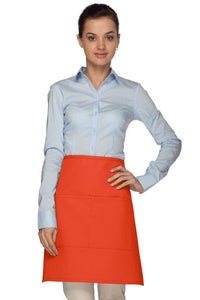 Orange 2 Pocket Half Bistro Apron