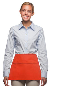 Orange 3-Pocket Waist Apron