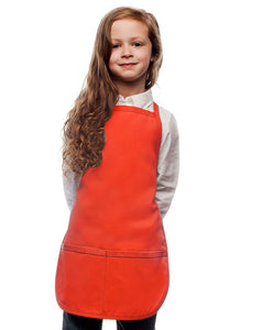 Orange Kids 2 Pocket Bib Apron
