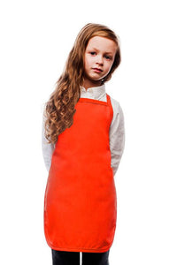 Orange Kids No Pocket Bib Apron