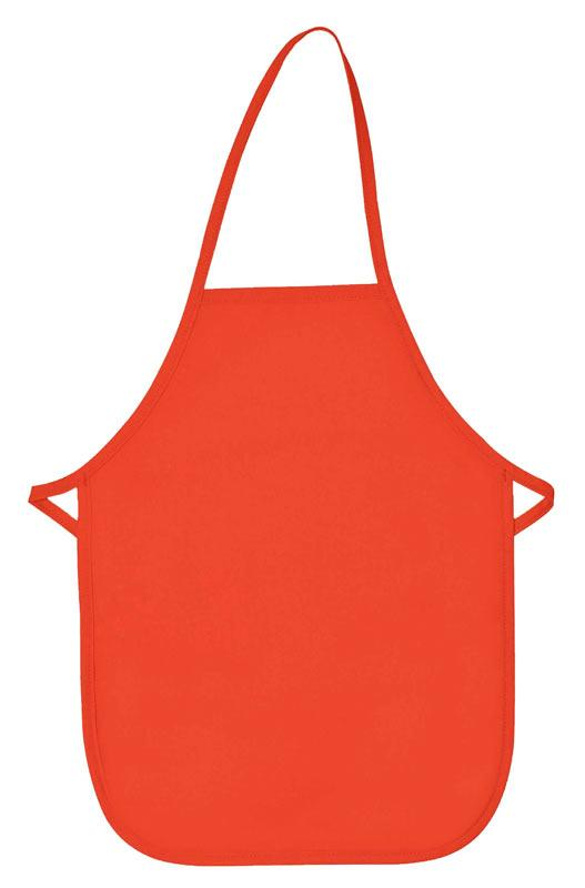 Orange Kid's XL Bib Apron (No Pockets)