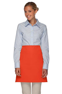 Orange No Pocket Half Bistro Apron