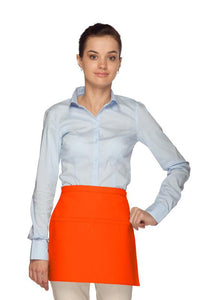 Orange Square Waist Apron