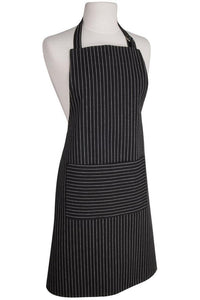 Pinstriped Modern Black Apron