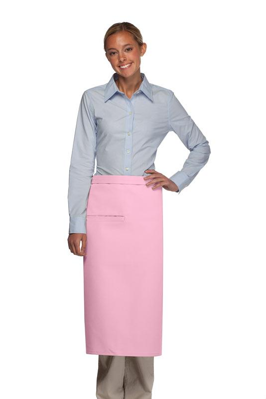 Pink 1 Inset Pocket Full Bistro Apron