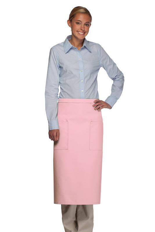 Pink 2 Patch Pocket Full Bistro Apron