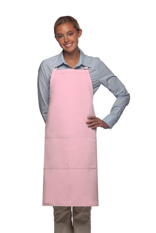 Pink 2 Pocket Adjustable Bib Apron