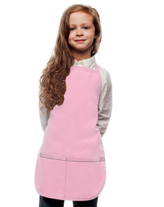 Pink Kids 2 Pocket Bib Apron