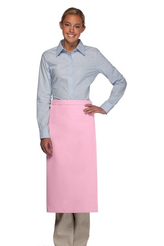 Pink No Pocket Full Bistro Apron