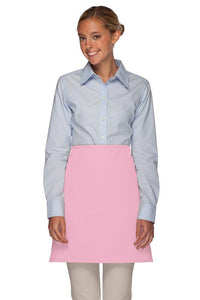Pink No Pocket Half Bistro Apron