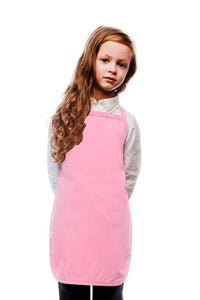 Pink Kid's Bib Apron (No Pockets)