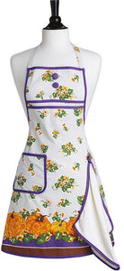 Carved Pumpkins Gigi Bib Apron w/Towel