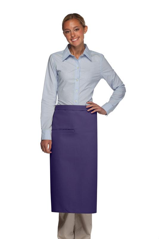 Purple 1 Inset Pocket Full Bistro Apron