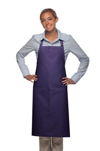 Purple 1 Pocket Adjustable Butcher Apron