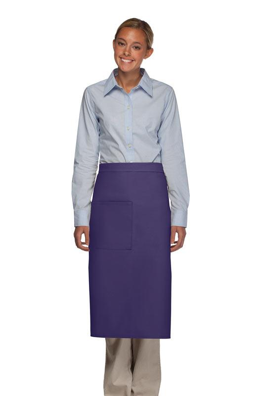 Purple 1 Pocket Full Bistro Apron
