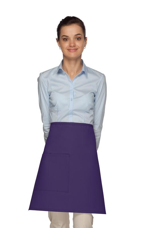 Purple 1 Pocket Half Bistro Apron