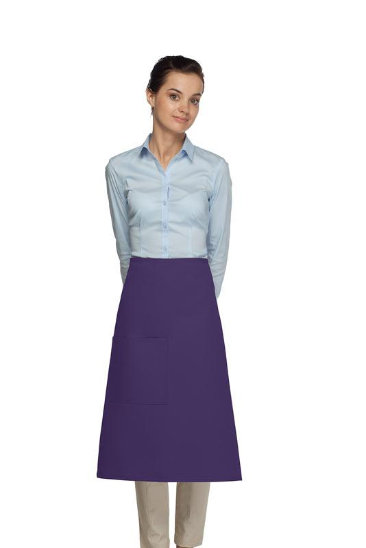 Purple 1 Pocket Three Quarter Bistro Apron