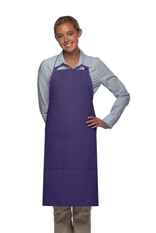 Purple 2 Pocket Adjustable Bib Apron