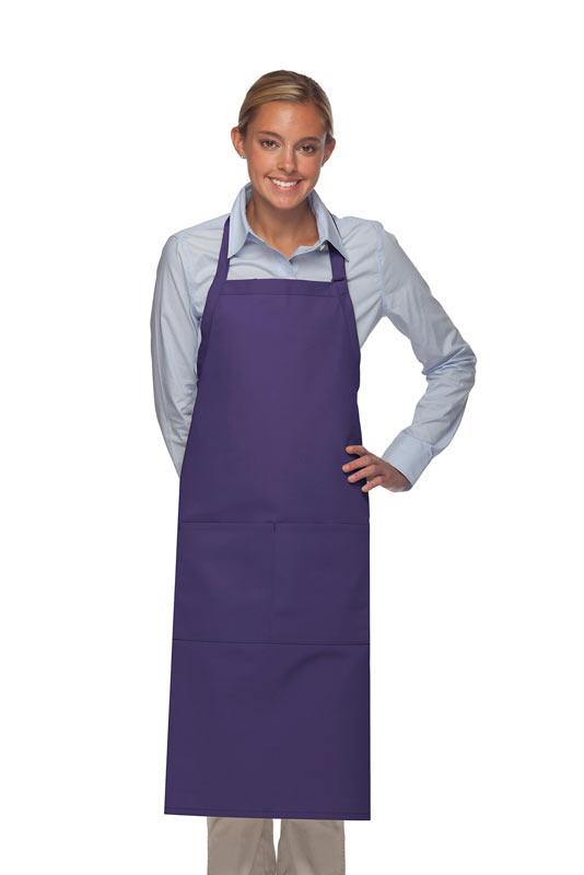 Purple 2 Pocket Adjustable XL Butcher Apron