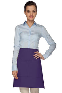 Purple 2 Pocket Half Bistro Apron