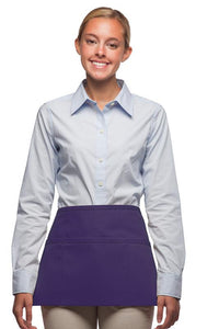 Purple 3-Pocket Waist Apron