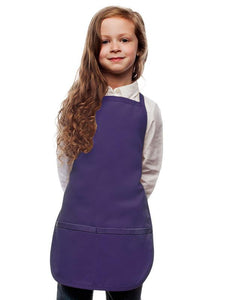 Purple Kids 2 Pocket Bib Apron
