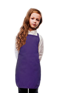 Purple Kids No Pocket Bib Apron