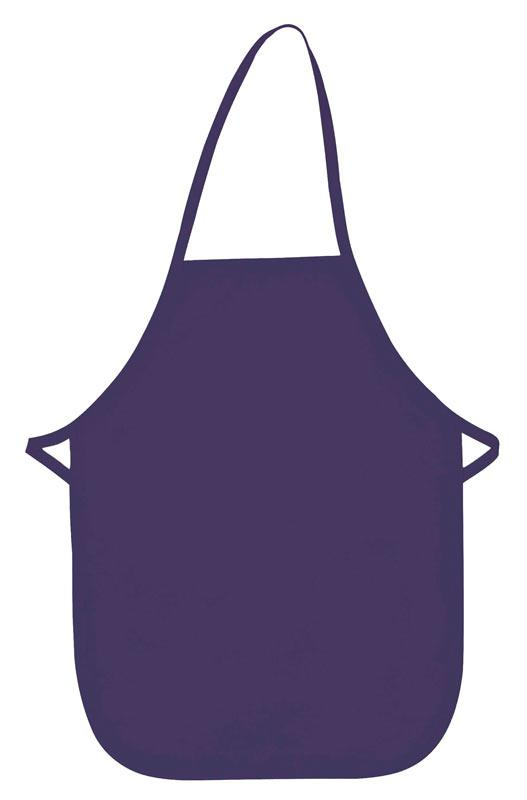 Purple Kid's XL Bib Apron (No Pockets)
