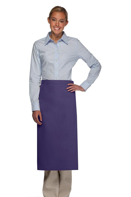 Purple No Pocket Full Bistro Apron