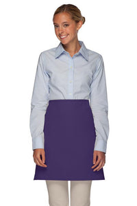 Purple No Pocket Half Bistro Apron