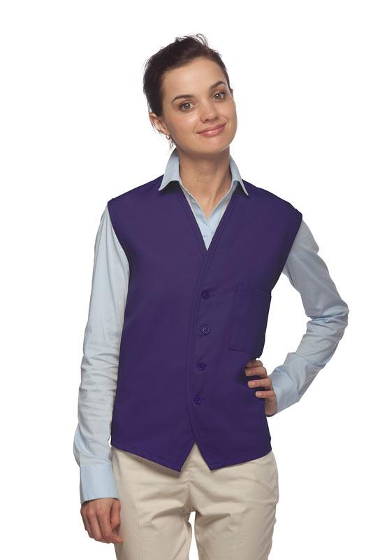 Purple 4-Button Unisex Vest with 1 Pocket