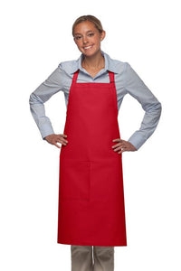 Red 1 Pocket Adjustable Butcher Apron