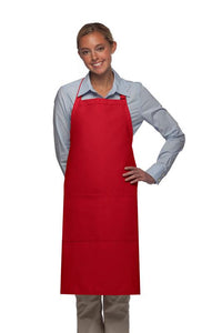 Red 2 Pocket Adjustable Bib Apron