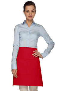 Red 2 Pocket Half Bistro Apron
