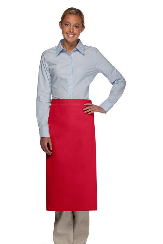 Red No Pocket Full Bistro Apron