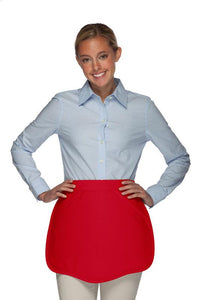 Red Scalloped Waist Apron
