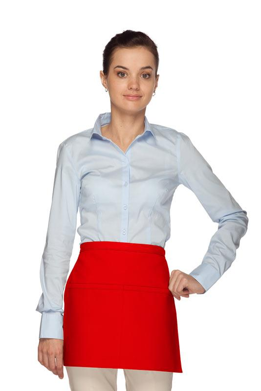 Red Square Waist Apron