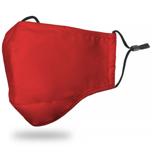 "Kids ""Solid"" Red Face Mask"