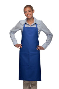 Royal Blue 1 Pocket Adjustable Butcher Apron