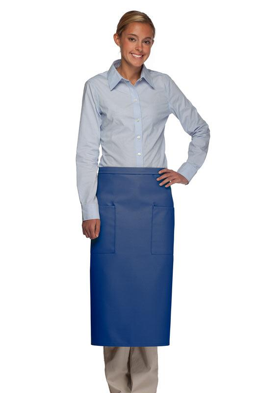 Royal Blue 2 Patch Pocket Full Bistro Apron