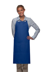 Royal Blue 2 Pocket Adjustable Bib Apron