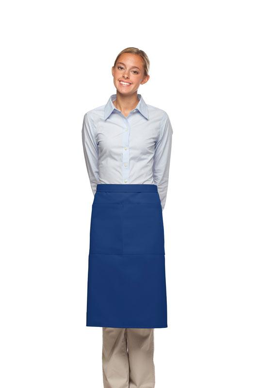 Royal Blue 2 Pocket Three Quarter Bistro Apron