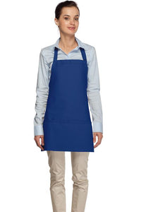 Royal Blue 3 Pocket Bib Apron