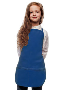 Royal Blue Kids 2 Pocket Bib Apron