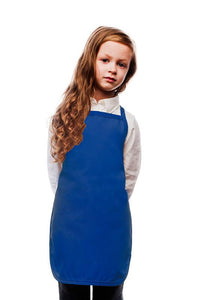 Royal Blue Kids No Pocket Bib Apron