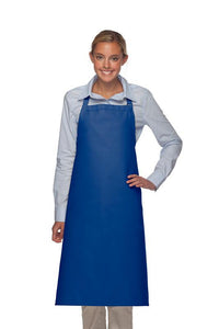 Royal Blue No Pocket Adjustable XL Butcher Apron