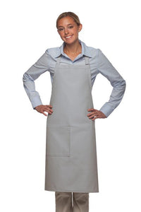 Silver 1 Pocket Adjustable Butcher Apron