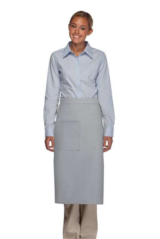 Silver 1 Pocket Full Bistro Apron