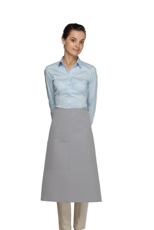 Silver 1 Pocket Three Quarter Bistro Apron