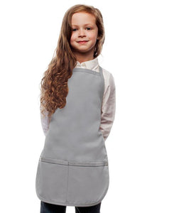 Silver Kids 2 Pocket Bib Apron